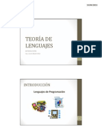01-02 Teoria de Lenguajes - Introduccion