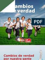 CAMBIOS DE VERDAD 4 AÑOS DE GOBIERNO FMLN