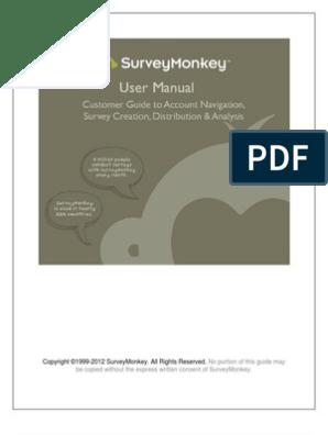 Manual Survey Monkey   Hyperlink   Websites
