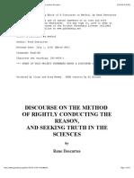 A Discourse on Method, by René Descartes, Project Gutenberg