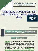 Politica Nacional de Producción Más Limpia 2009