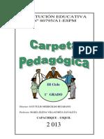 Carpeta Pedagógica 2013 - I.E. N° 08795-A1-ESPM