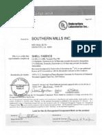 Certificado NFPA 2112 2007