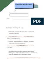 Experimental Worksheet