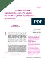 Percepção de mudança individual e organizacional- o papel das atitudes, dos valores, do poder e da capacidade organizacional