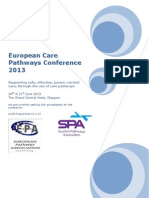 European Pathways Conference 2013, Glasgow Scotland 20-21 June 2013