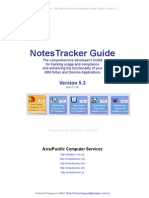 NotesTracker Version 5.3 Guide
