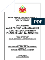 Format Dokumentasi BANTUAN RM100
