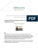 Honduras Must Not Remain Alone in Fight Against Organized Crime
