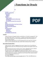 Analytic Functions in Oracle