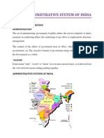 Administrative System of India
