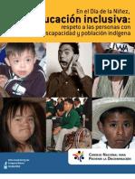 Dossier Ed Inclusiva 25 Abril 2013 INACCSS