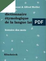 Ernout Meillet - Dictionnaire-Etymologique de La Langue Latine Histoire Des Mots