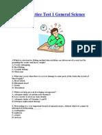 LET Practice Test 1 General Science
