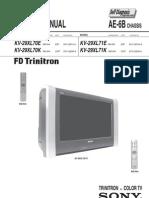 Sony Trinitron Color TV KV-29XL70E,K-KV29XL71E-K, Chassis AE-6B Parts & Service