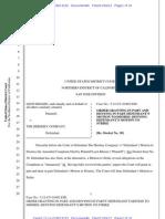 Order Mot Dismiss Leon Khasin v. Hershey Co