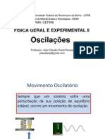 Aula 03 - OSCILAÇÕES - Livres e Amortecidas