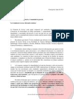 Comunicado Comisión Acceso Social UdeC