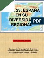 TEMA 23 - ESPAÑA EN SU DIVERSIDAD REGIONAL