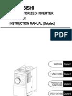 Mitsubishi Freqrol FR S500 Manual