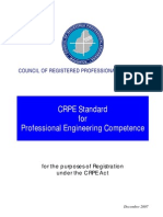 3-CRPE Standard of Professional Engineering Competence 2007