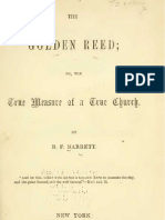B F Barrett THE GOLDEN REED or the True Measure of a True Church New York 1855