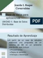 UNIDAD II Base de Datos Distribuidas