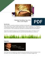 Christian Newsletter June 2013
