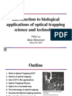 Introduction to Optical Trapping Science and Technology