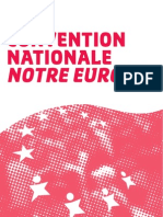 "Texte de la Convention nationale ""Notre Europe"""