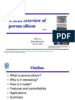 A Brief Overview of Porous Silicon