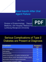 Starting Basal Insulin After Oral Agent Failure
