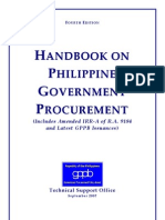 Handbook on Phil. Gov't Procurement