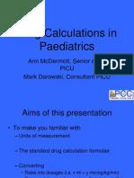 Drug Calculations in Paediatrics