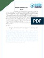 Comentario texto Filosofía Opción B Selectividad Madrid Junio 2013
