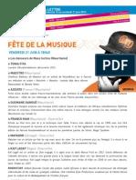 La Lettre de l'IFM Du 16 Au 21 Juin 2013