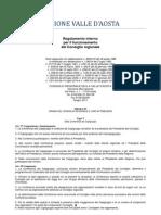 18. Regolamento Interno Consiglio Valle d'Aosta 2011- 4. Titolo - Capo 5