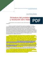 Dictad del proletariado y revolución ( –Hobsbawm)