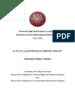 Stefano Fontana - Il PCI e la questione di Trieste 1946-1957