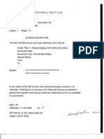T2 B4 Kevin Scheid Notes 10-7-03 to 5-21-04 Fdr- Entire Contents- Withdrawal Notice- 73 Pgs- Middle East-South Asia Trip Notes- Classification Review 593