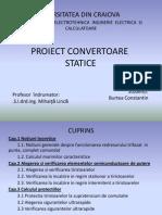 Proiect Convertoare Statice - Redresor Burtea Constantin
