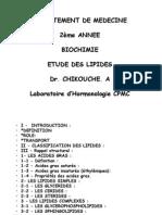 Lipides Structure Metabolisme
