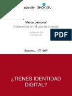 Marca personal. Coherencia en el uso de Internet. Jornada por el Empleo en FP