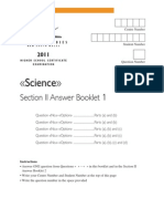 Chemistry Answer Booklet 1