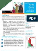 UNICEF Syria Regional Crisis Humanitarian SitRep - 13 JUNE 2013