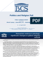 Religious globalization suggested by Romanian study