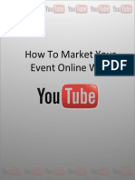 How To Market Your Event Online With YouTube