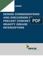 Grease Interceptor Design
