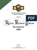 Rover Scout Progress Badge Training Scheme