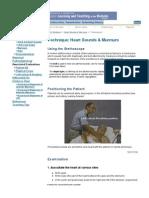 Heart Sounds & Murmurs Exam